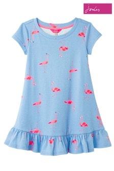 Joules Blue Allie Short Sleeve Jersey Swing Dress