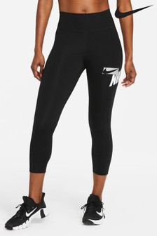 Nike One Cropped Graphic Leggings
