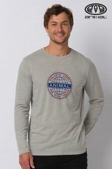 Animal Grey Demand Long Sleeve Graphic T-Shirt
