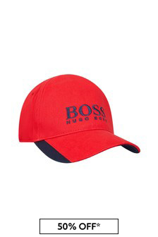 Boss Kidswear BOSS Baby Boys Red Cotton Hat
