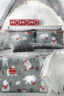 Polar Bears Duvet Cover and Pillowcase Set by Fusion