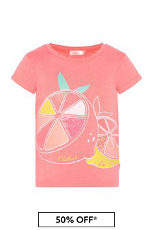 Billie Blush Girls Coral T-Shirt