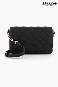 Dune London Black Dupree Small Quilted Cross Body Bag