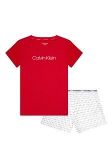 Calvin Klein Underwear Red Cotton Pyjamas