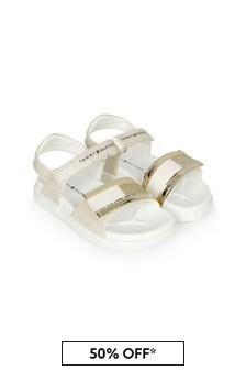 Tommy Hilfiger Girls Gold Sandals