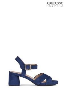 Geox Women's Genziana Mid Blue Sandals