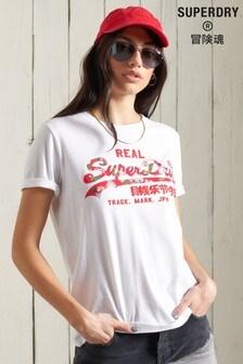 Superdry Vintage Logo Floral Infill T-Shirt
