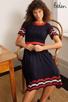 Boden Blue Agnes Pointelle Dress