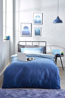 Navy Ombre Duvet Cover and Pillowcase Set