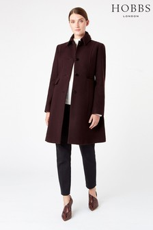 Hobbs Purple Evalina Coat