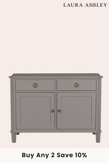 Henshaw Pale Charcoal 2 Door 2 Drawer Sideboard by Laura Ashley