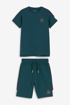 Taped Shorts And T-Shirt Set (3-16yrs)