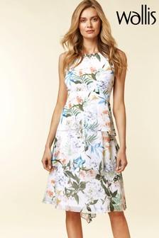 Wallis Cream Oriental Pop Detail Dress