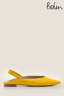 Boden Yellow Hannah Slingback Shoes