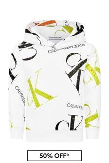 Calvin Klein Jeans Boys White Hoodie