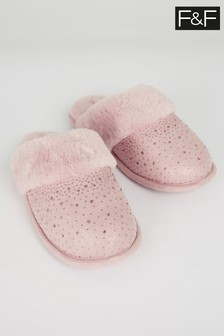 F&F Pink Hard Sole Heatseal Slippers