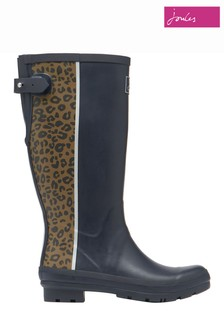Joules Print Wellies With Back Gusset