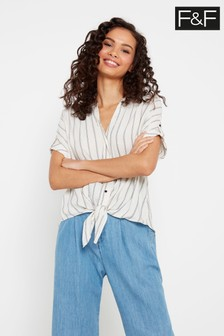 F&F Natural Stripe Shirt