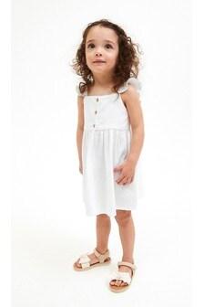 Frill Detail Linen Blend Dress (3mths-7yrs)