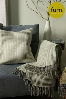Rowan Two Tone Waffle Throw by Furn