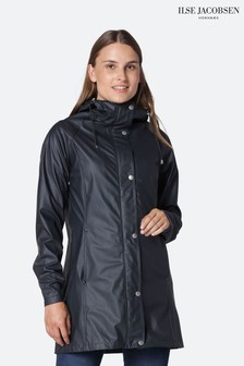 Ilse Jacobsen Navy Waterproof Raincoat