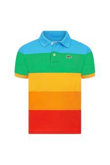 Lacoste Kids Boys Multi Cotton Polo Top