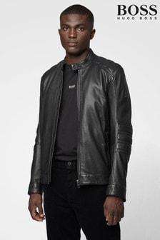 BOSS Black Jagson Leather Jacket