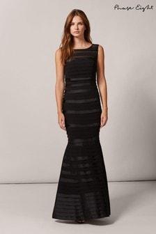 Phase Eight Black Shannon Layered Maxi Dress