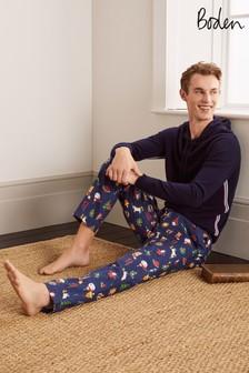 Boden Blue Depths Baubles Printed Pyjama Bottoms