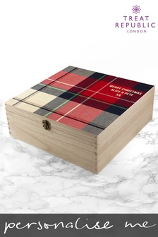 Personalised Tartan Christmas Eve Box by Treat Republic