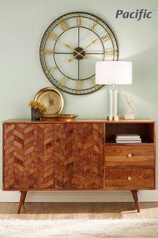 Pacific Lifestyle Sheesham Wood Honeycomb Design Sideboard