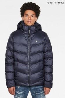 G-Star Blue Whistler Hooded Padded Jacket