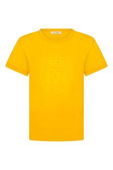 Dolce & Gabbana Kids Dolce & Gabbana Boys Orange Cotton T-Shirt