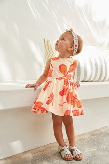 Floral Print Cotton Prom Dress (3mths-12yrs)