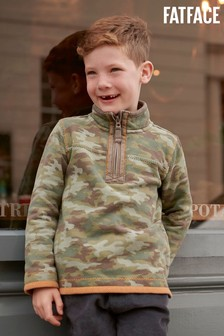 FatFace Green Mini Camo Airlie Sweater