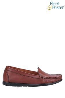 Fleet & Foster Tan Tiggy Slip On Loafers