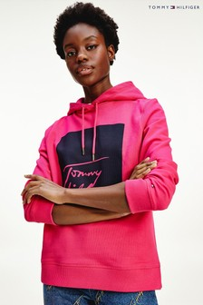 Tommy Hilfiger Pink Alissa Box Graphic Hoody