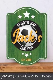 Personalised Sports Bar & Pub Metal Wall Art/Metal Sign