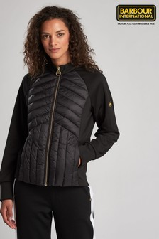 Barbour® International Hybrid Quilted Sweatshirt Jacket
