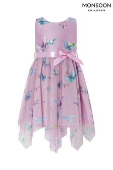 Monsoon Children Purple Flutter Butterfly Dress