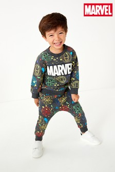 Marvel Crew And Joggers Set (3mths-8yrs)