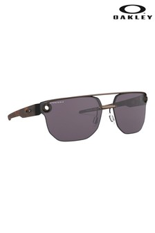 Oakley® Black Frame Visor Sunglasses