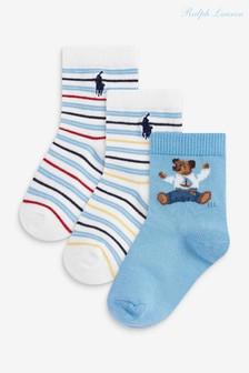 Ralph Lauren Blue Socks Three Pack