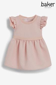 Baker by Ted Baker Pink Ruffle Sleeve Dress