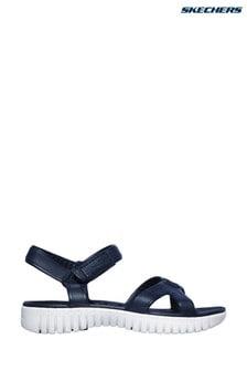 Skechers® Navy Go Walk Smart Aloha Sandals