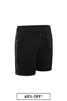 Karl Lagerfeld Boys Black Cotton Shorts