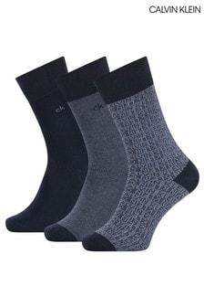 Calvin Klein Ensley 3 Pack Socks Gift Box