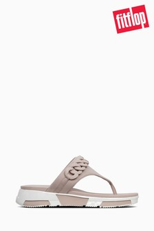 FitFlop™ Mink Heda Chain Toe Thong Sandal