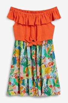 Bardot Knot Front Dress (3-12yrs)