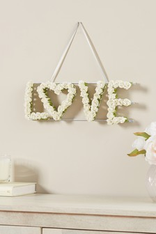 Artificial Floral Hanging Sign